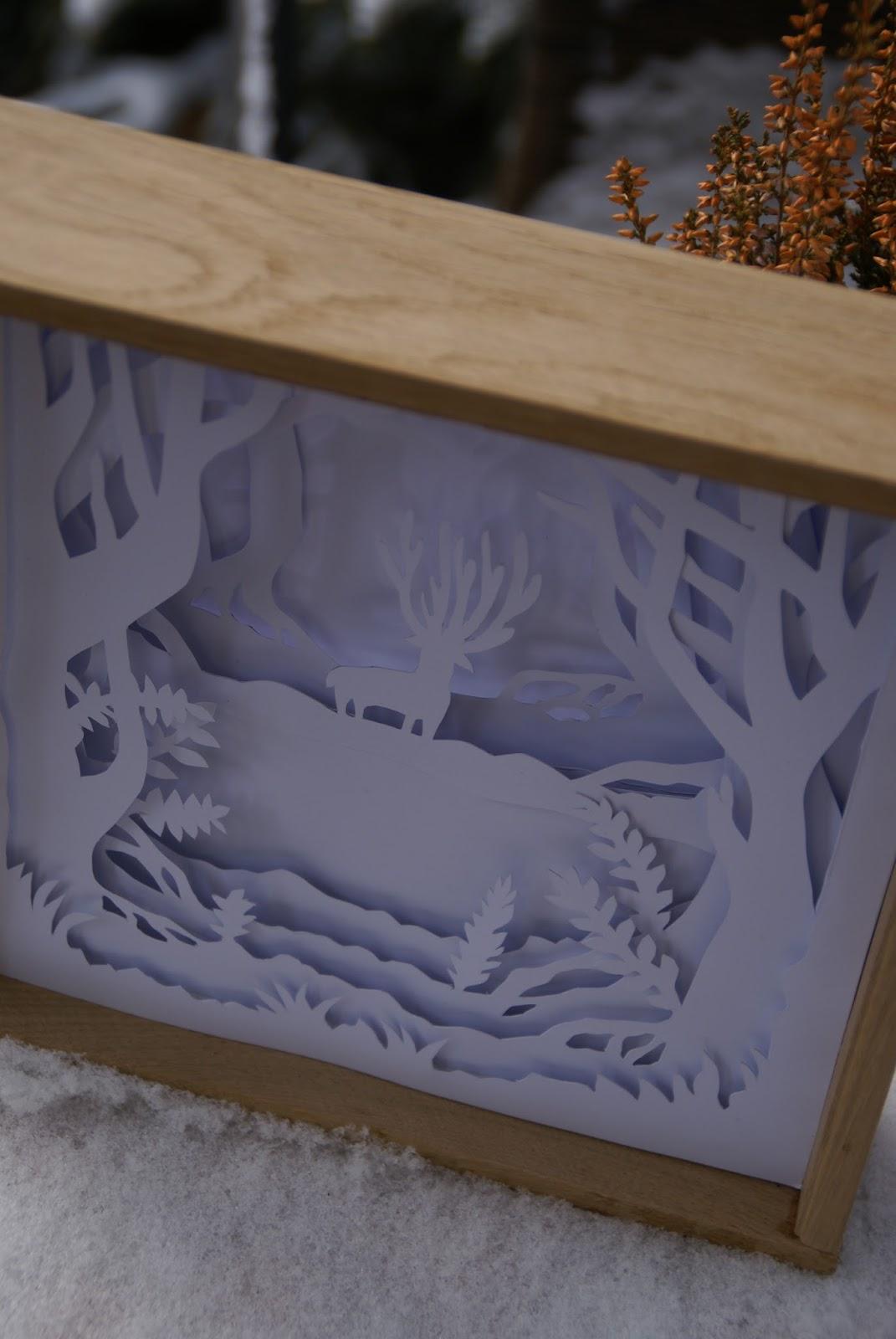Shadow box z jeleniem DIY