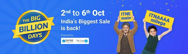 Flipkart The Big Billion Days Day 3 - Upto Rs.15K off on Laptop Exchange | DSLR starting @ Rs.20k + Instant 10% Off on SBI Cards