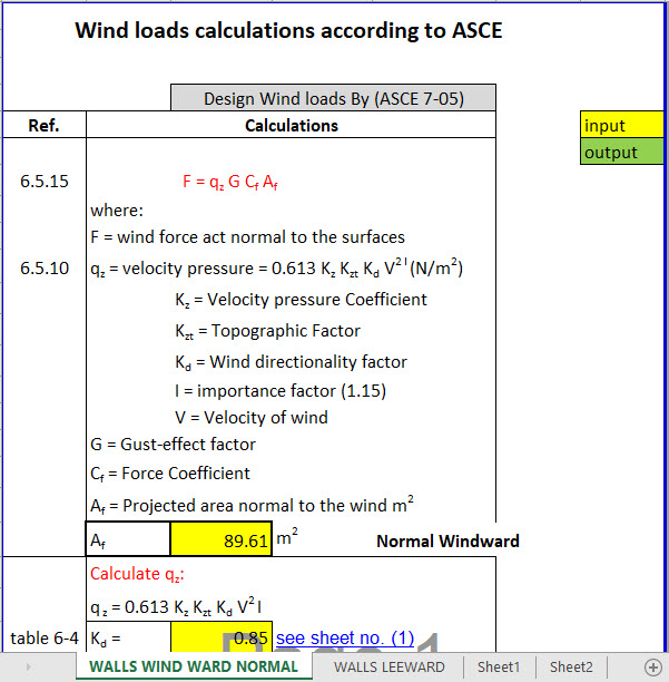 this sheet according to asce 7 05 for all structural engineers there are three methods to calculate wind load calculations and analysis as per asce method