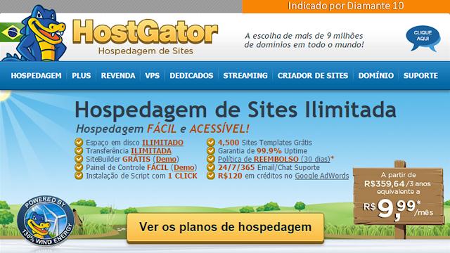 Acesse página de oferta da Hostgator