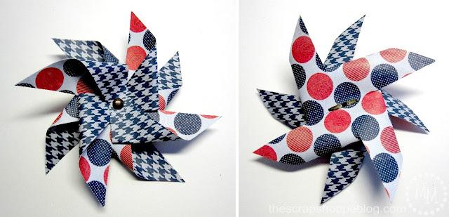 Patriotic Pinwheels double pinwheel