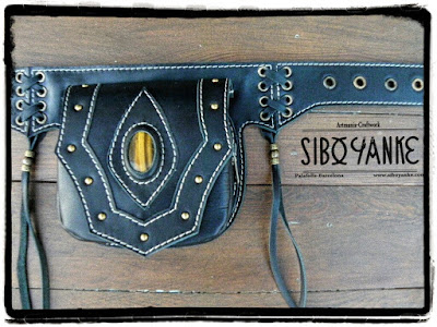 Leather Utility Belt, Riñonera Fanny Pack, Festival Belt, Festival Bag, Boho Belt, Gypsy Belt