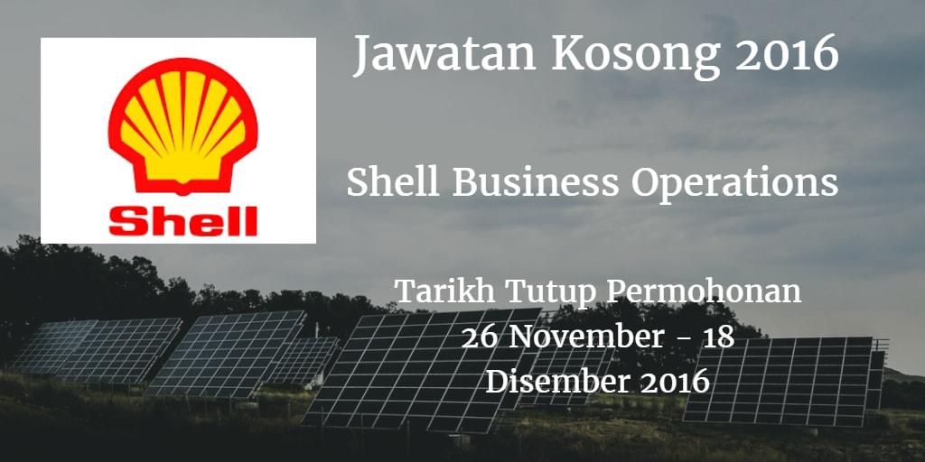 Jawatan Kosong Shell Business Operations 26 November - 18 Disember 2016