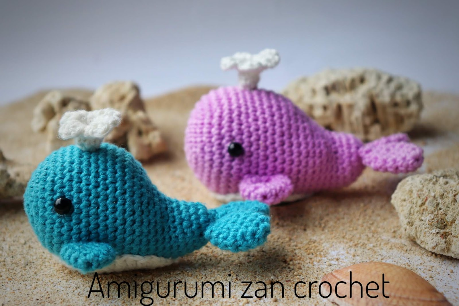Willy and Nelly the whale cousins amigurumi pattern ... | 1068x1600
