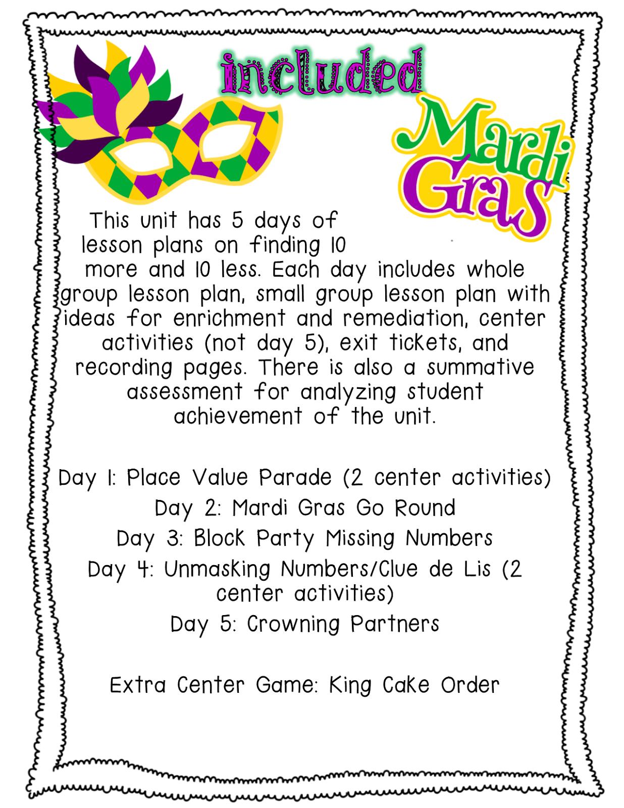 Pride And Primary Mardi Gras Madness Math Mini