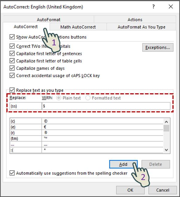 Menambahkan Pintasan Teks Ke Daftar AutoCorrect 2