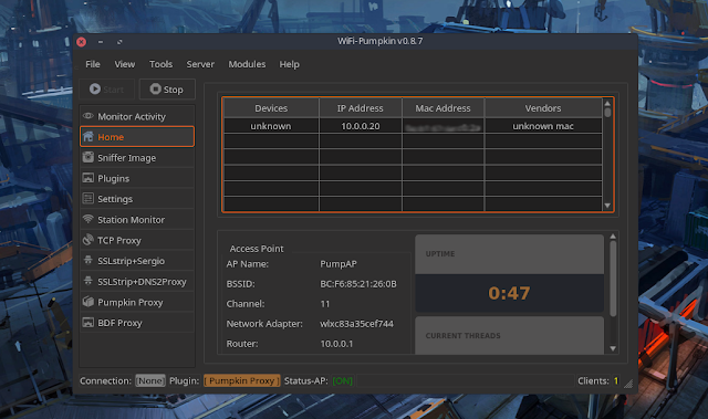 WiFi-Pumpkin v0.8.7 - Framework for Rogue Wi-Fi Access Point Attack