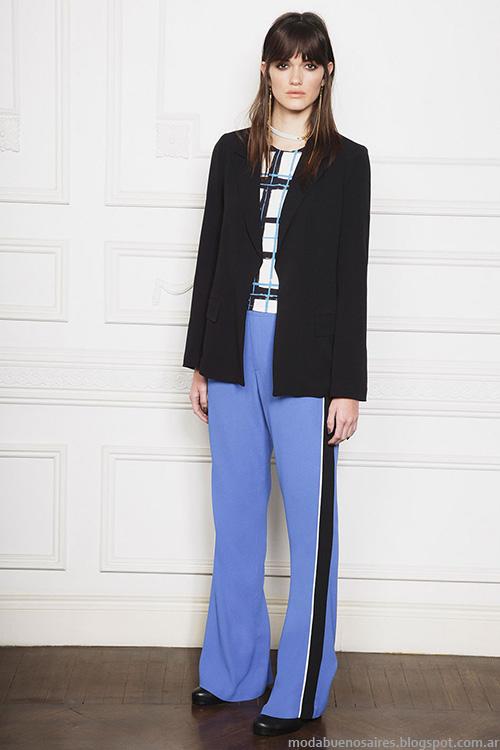 Ropa de mujer invierno 2016 Ayres pantalones con lineas laterales.