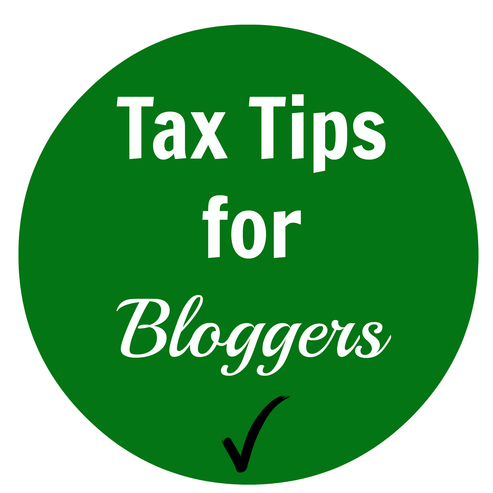 Tax Tips for Bloggers via www.productreviewmom.com