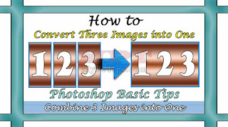 Convert 3 images into One Vertically or Horizontally via Photoshop