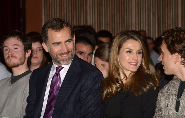 Crown Prince Felipe and Crown Princess Letizia attend a concert organised by the Prince of Girona Foundation
