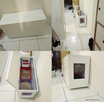 Caixa box liteira banheiro gatos