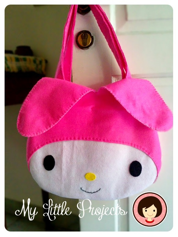 My Little Projects: {Tutorial} My Melody Felt Bag