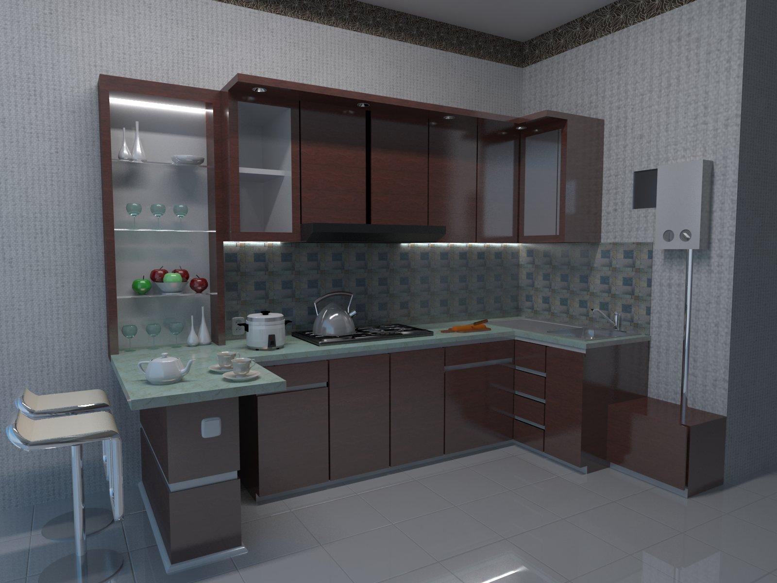 Desain Kitchen Set Ibu Iqoh Jl Ahmad Yani Bogor Jawa