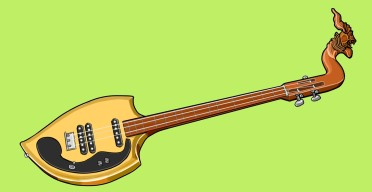 タイの楽器 エレクトリック ピン electric phin