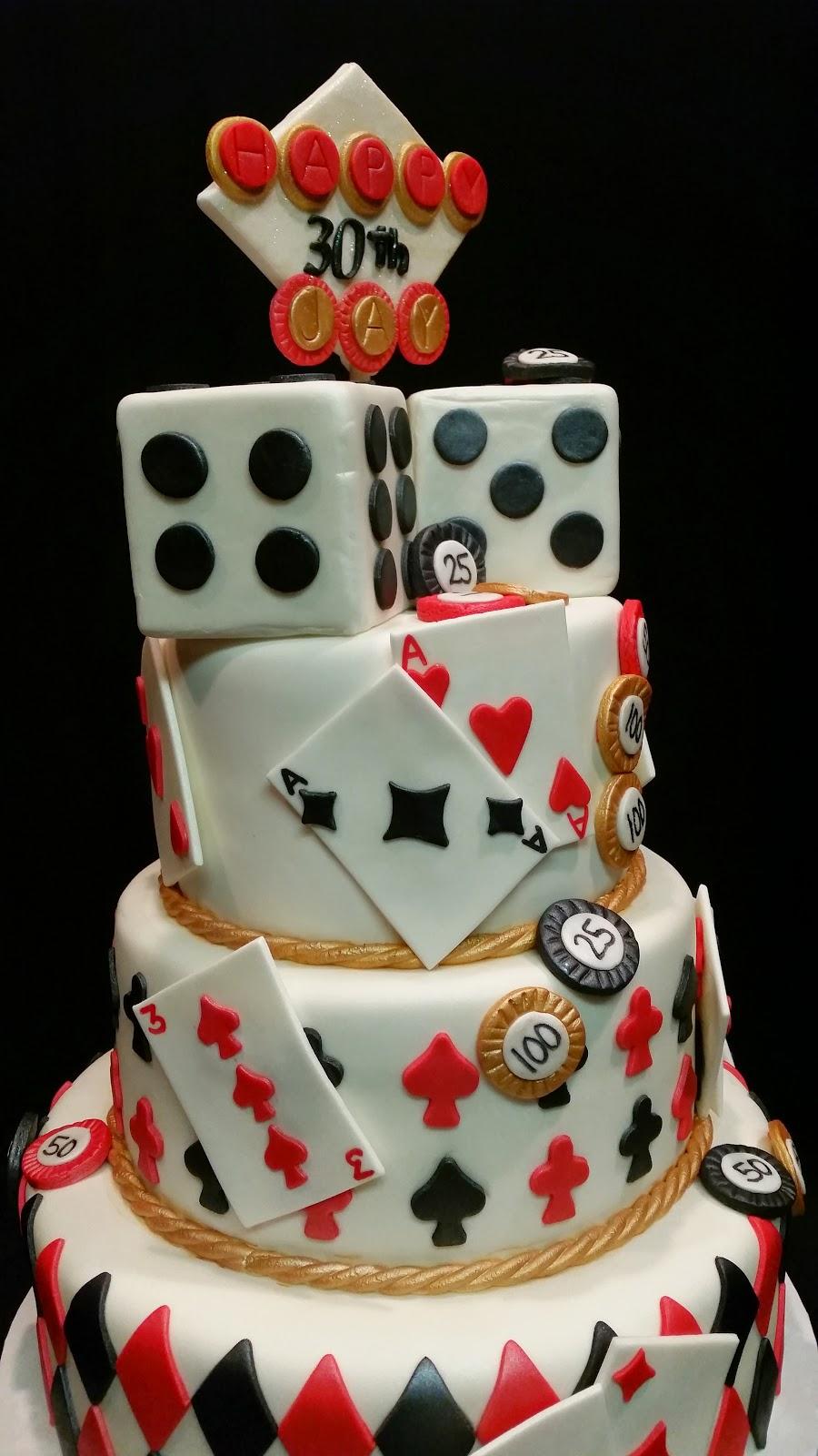 Mymonicakes Casino Night Theme Cake