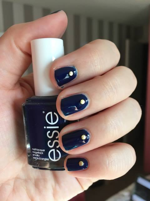 Nail of the Day: Studded Manicure with Essie 'Style Cartel'