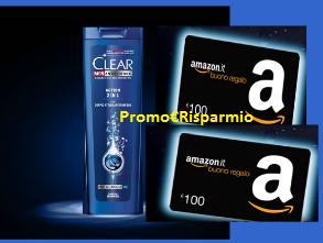Logo Concorso Clear e vinci buoni Amazon