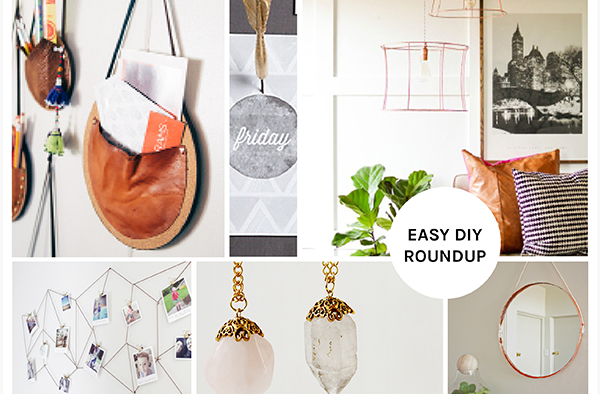 Leather & Copper & Wood - Oh My! Easy DIY Roundup by Eliza Ellis