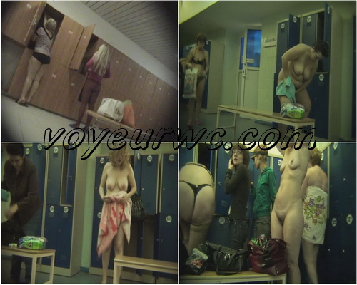 Girls in the Locker Room to the Swimming Pool (Lockerroom 919-927)