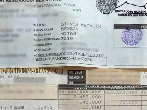 Cara bayar pajak STNK di minimarket