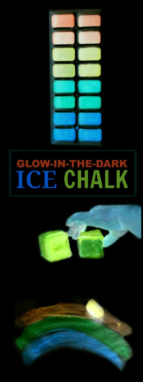 "GLOW-IN-THE-DARK ICE CHALK FOR KIDS - the ""coolest"" thing to happen to Summer since the water slide!"