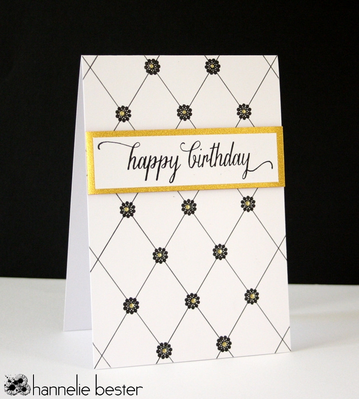 Plaid inspired birthday card