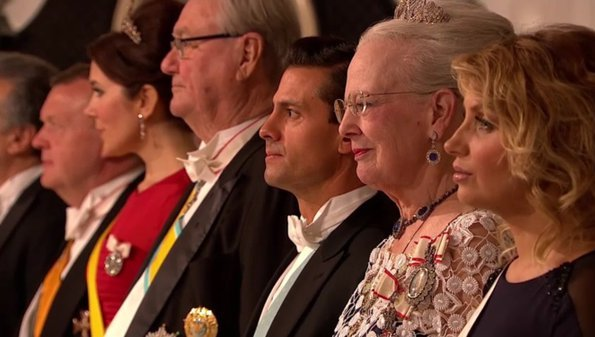Crown Prince Frederik, Crown Princess Mary, Prince Joachim, Princess Marie and Princess Benedikte.