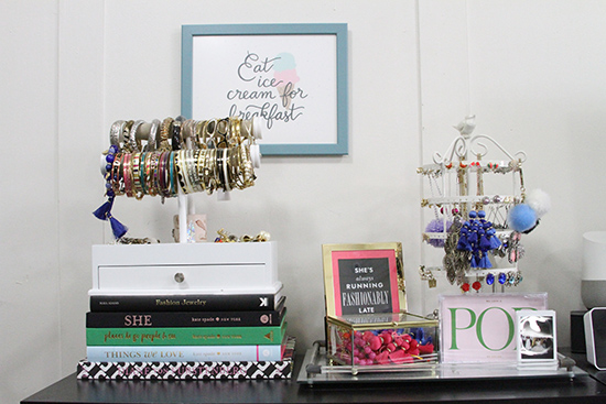 Will Bake for Shoes | Studio Apartment Jewelry Storage and Display