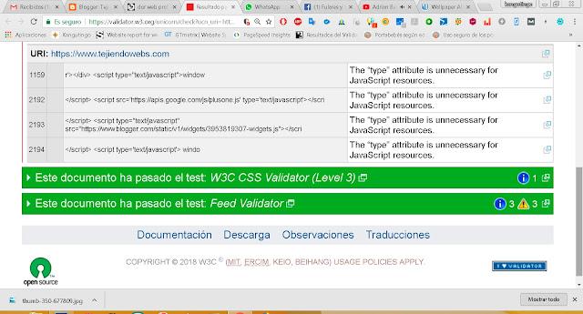 VALIDADOR DE CÓDIGO W3C