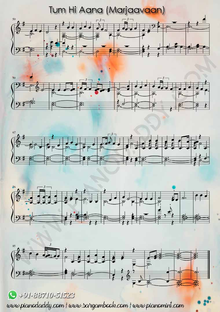 Tum Hi Aana Piano Notes Marjaavaan Tum Hi Aana Keyboard Notes Most easy piano song notes will all fall on the white keys, so there's no need to worry about labeling sharps and flats just yet. tum hi aana piano notes marjaavaan