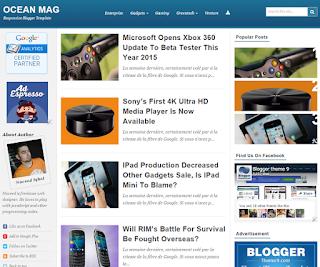 Ocean Mag - Template Blog Responsive Tiga Kolom