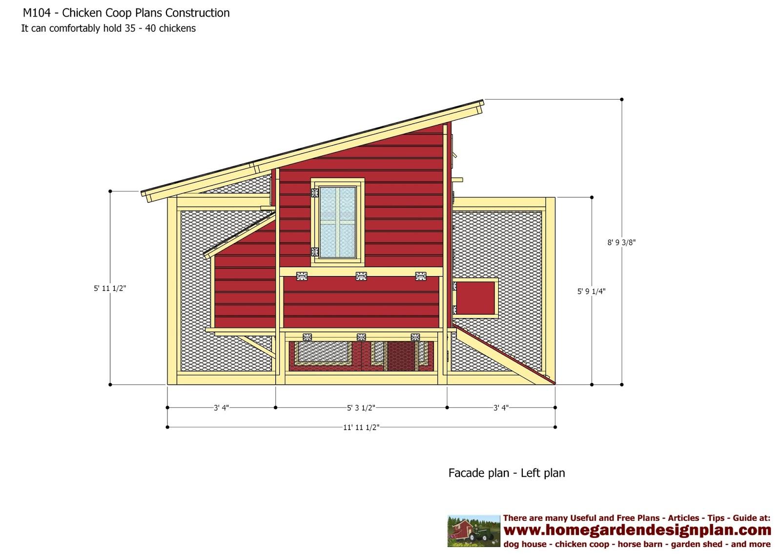 home garden plans: M104 - Chicken Coop Plans Construction ...