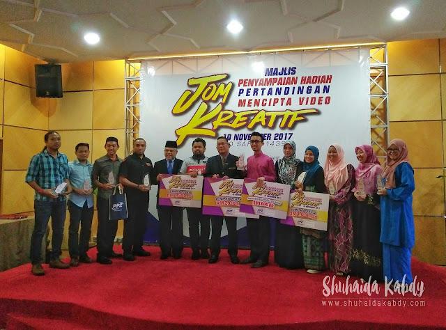 Majlis Penyampaian Hadiah Pertandingan Mencipta Video JOM KREATIF Anjuran PPZ MAIWP