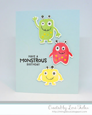 Have a Monstrous Birthday card-designed by Lori Tecler/Inking Aloud-stamps and dies from My Favorite Things