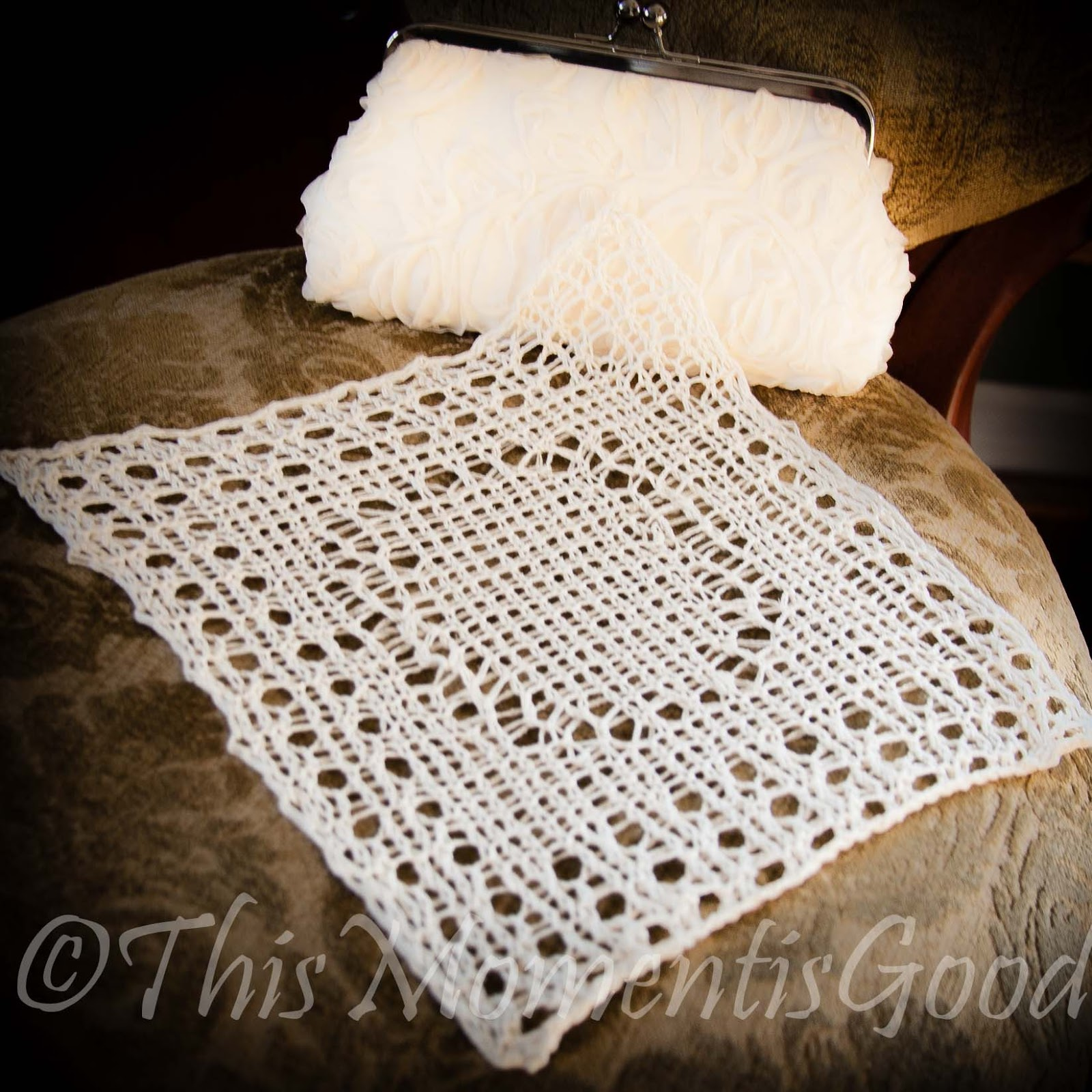 LOOM KNIT WEDDING RING HANDKERCHIEF | Loom Knitting by This Moment ...
