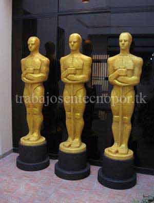 Escultura estatuilla del Oscar en venta para fiestas y eventos