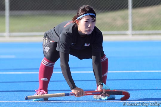 Akane Shibata, Japanese hockey team, training at the Festival of Hockey at Hawke's Bay Regional Sports Park, Hastings. photograph