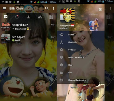 BBM Change Background With Doraemon v3.0.1.25 MOD APK