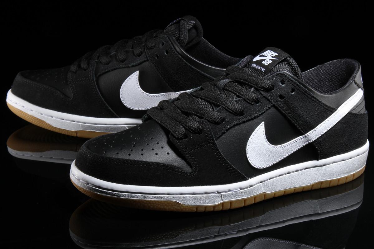55898af7aa02 Nike SB Dunk Low Pro Black White Gum