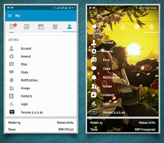 BBM Mod Transparan V3.3.5.49 Apk 2017