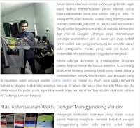 Liputan Media, Gallery Foto, Testimoni Konveksi Jogja