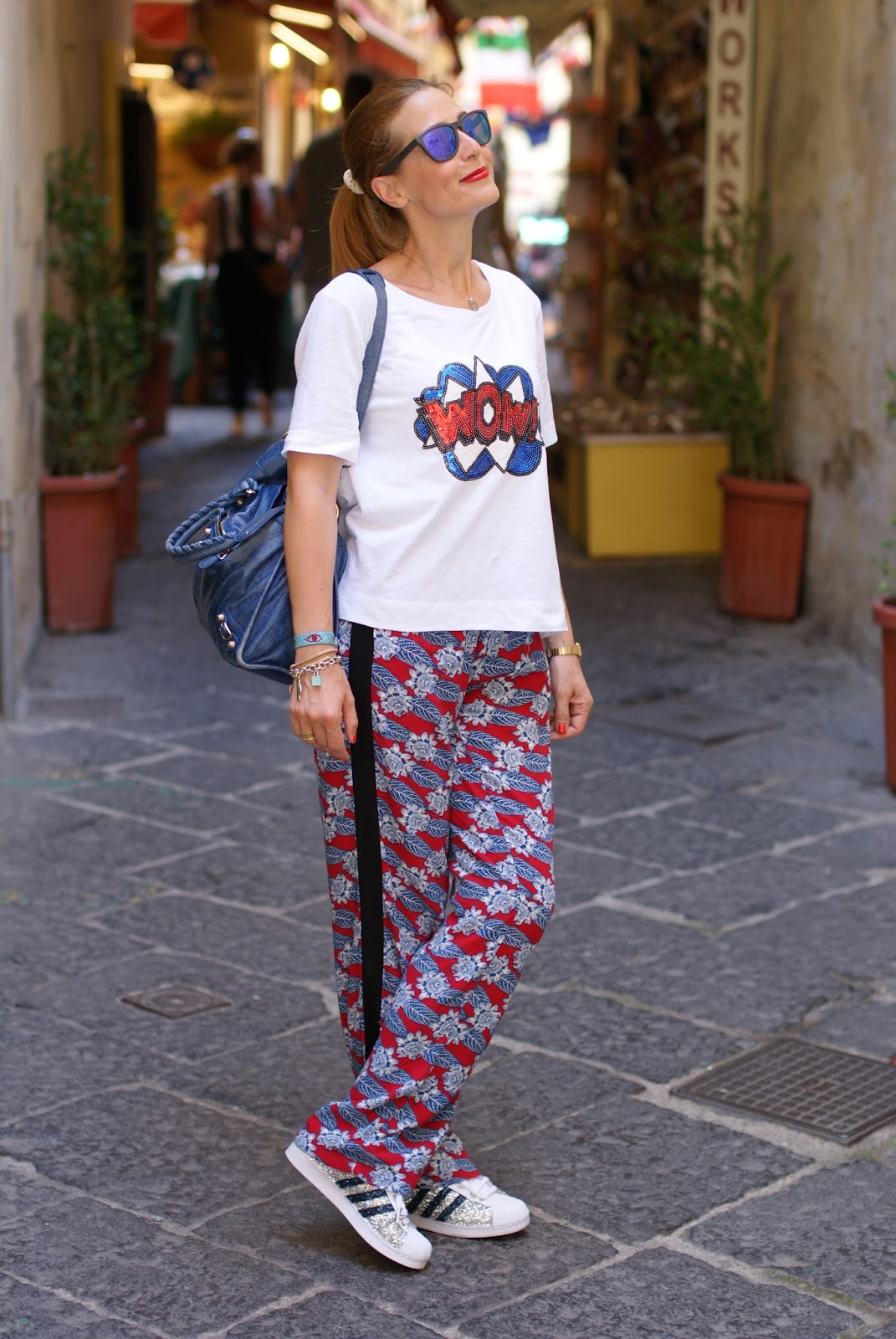 What to wear on a summer trip featuring Paramita pants on Fashion and Cookies fashion blog, fashion blogger style