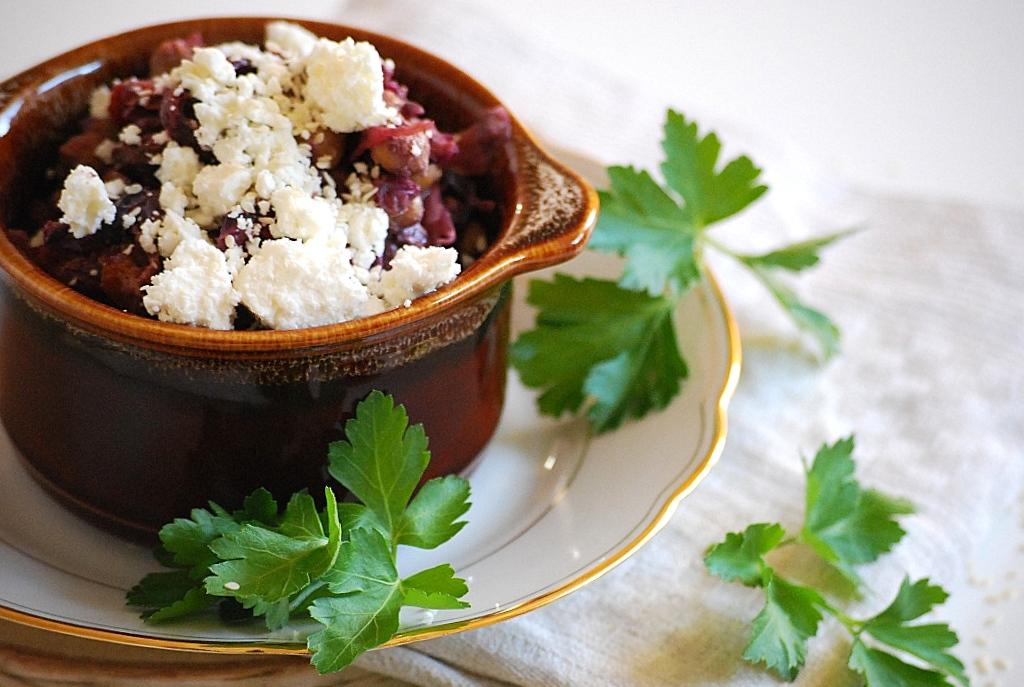 Rotkohl, Ziegenfeta, Kichererbsen, Zimt, Healthy, Food, Foodblogger