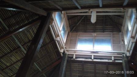 Tampak Atap bagian Dalam Masjid Asal Panampaan