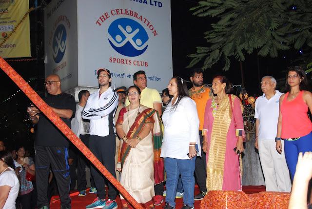 Hemant Nair, Dino Morea, Corporator Smt. Jyotsna A. Dighe  and Mukesh Rishi