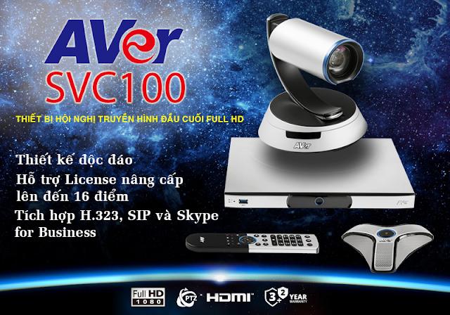 Giải pháp hội nghị truyền hình đầu cuối SVC100 hoàn hảo từ AVer