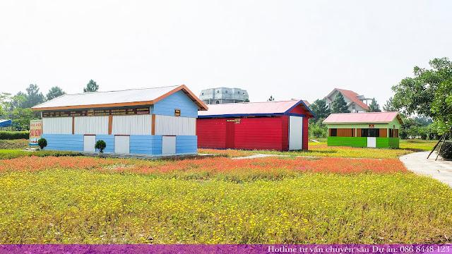 Vườn hoa rộng lớn tại khu đô thị sinh thái cao cấp the phoenix garden