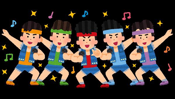 80年代アイドルのイラスト(男性)