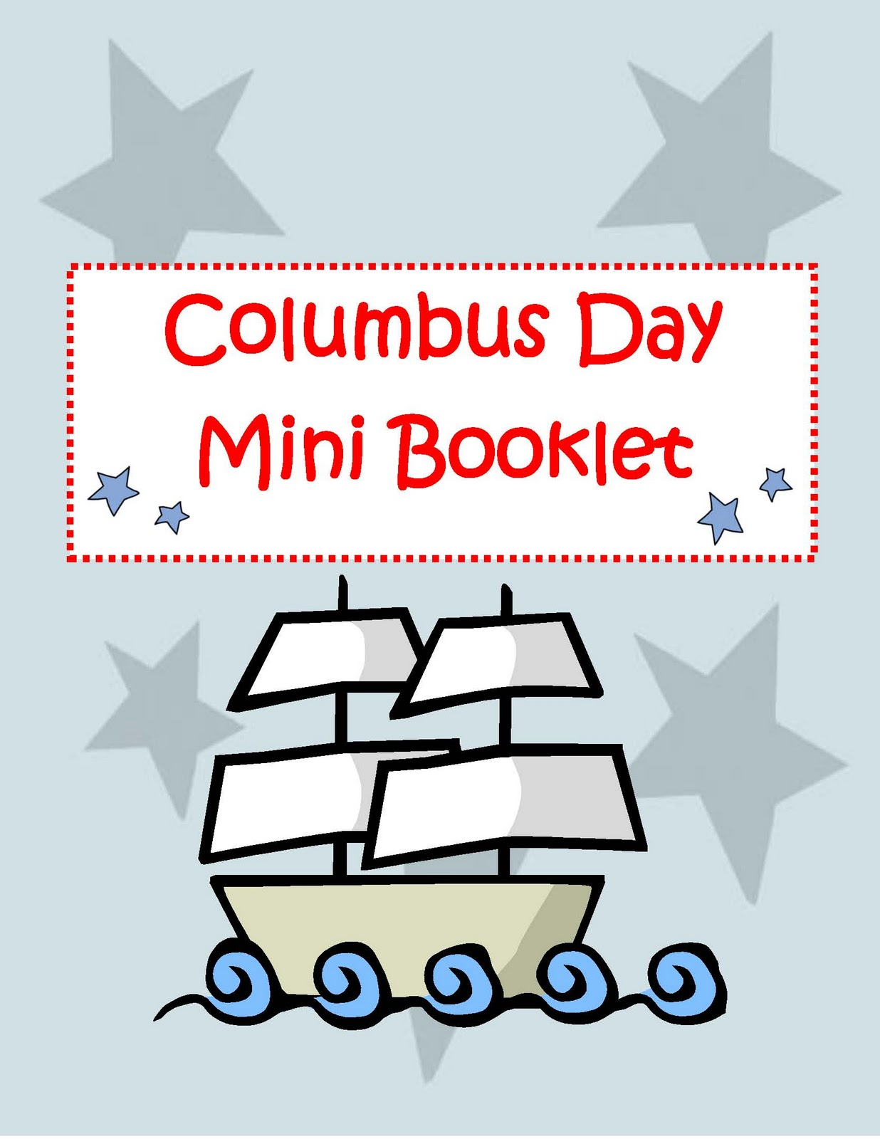 Engaging Lessons And Activities Columbus Day Activity Booklet
